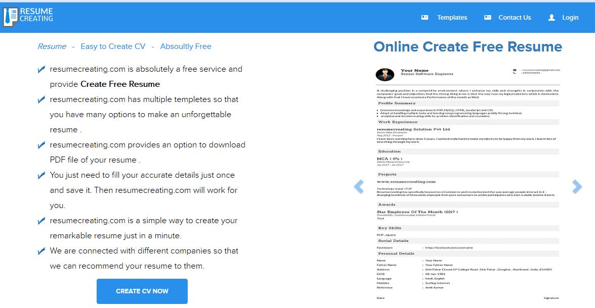 create-online-resume